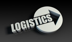 Logistics Concept With an Arrow Going Upwards 3D